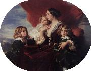 Elzbieta Branicka, Countess Krasinka and her Children Franz Xaver Winterhalter