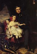 Napoleon Alexandre Louis Joseph Berthier, Prince de Wagram and his Daughter, Malcy Louise Caroline F Franz Xaver Winterhalter
