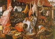 Butcher's Stall with the Flight into Egypt Pieter Aertsen
