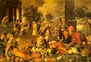 Market Scene with Christ and the Adulteress Pieter Aertsen