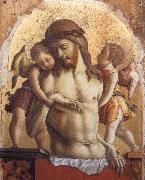 The Dead Christ Supported by two angels Carlo Crivelli