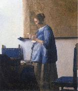 Woman Reading a Letter Johannes Vermeer