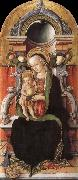 Faith madonna with child, and the donor Carlo Crivelli