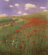 A Field of Poppies Merse, Pal Szinyei