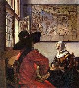 Officer and a Laughing Girl, Johannes Vermeer