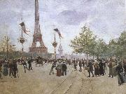 entrabce to the exposition universelle by jean beraud cesar franck