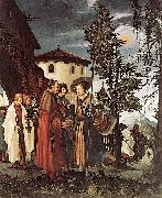 St Florian Taking Leave of the Monastery Albrecht Altdorfer