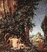Landscape with Satyr Family Albrecht Altdorfer