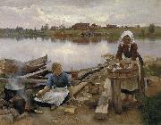 JaRNEFELT Eero Laundry at the river bank 1889 Eero Jarnefelt