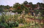 The river Lys at Astene Emile Claus