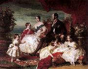 Portrait of Queen Victoria, Prince Albert, and their children Franz Xaver Winterhalter