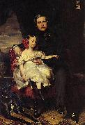 Portrait of the Prince de Wagram and his daughter Malcy Louise Caroline Frederique Franz Xaver Winterhalter
