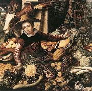 Market Woman with Vegetable Stall Pieter Aertsen