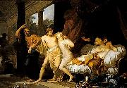 Regnault Socrates Tears Alcibiades from the Embrace of Sensual Pleasure Baron Jean-Baptiste Regnault
