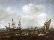 A Dutch Ship and Fishing Boat in a Fresh Breeze Hendrik Cornelisz. Vroom