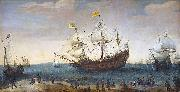 The Mauritius and other East Indiamen Hendrik Cornelisz. Vroom