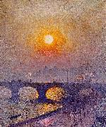 Sunset over Waterloo Bridge Emile Claus