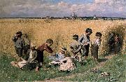On the Way to School Emile Claus