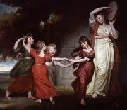 The five youngest children of Granville Leveson-Gower, 1st Marquess of Stafford George Romney