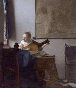 Woman with a lute. Johannes Vermeer