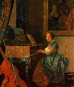 A Lady Seated at a Virginal Johannes Vermeer