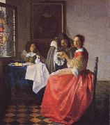 Girl with the Wine Glass Johannes Vermeer