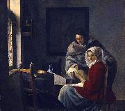 Girl interrupted at her music. Johannes Vermeer