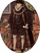 Portrat des Sir Christopher Hatton Nicholas Hilliard