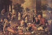 Christ and the Adulteress (mk14) Pieter Aertsen