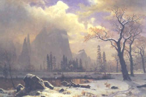 Albert Bierstadt Yosemite Winter Scene
