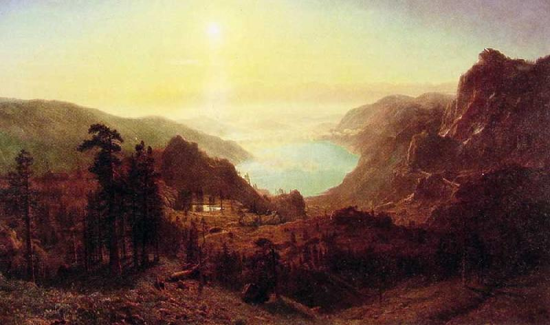 Albert Bierstadt Donner Lake from the Summit