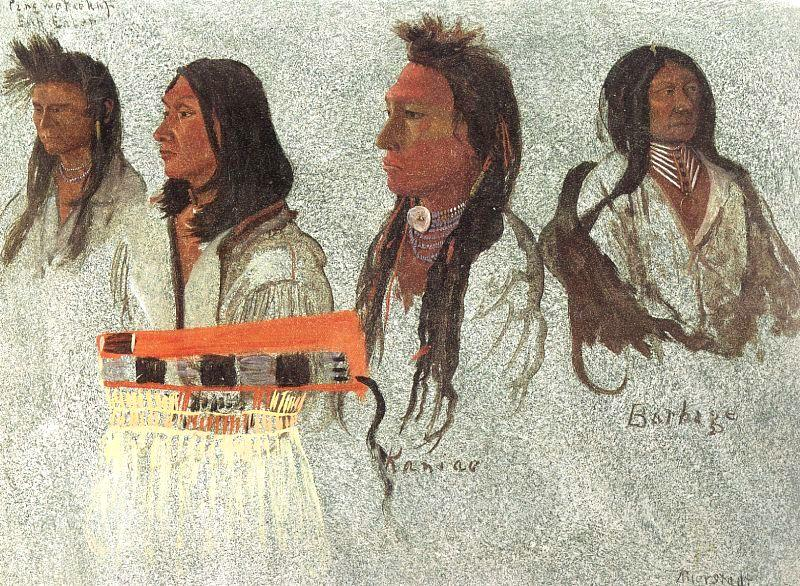 Bierstadt, Albert Four Indians