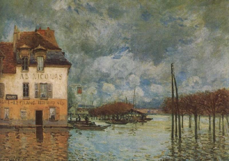 an analysis of the flood at port marley by alfred sisley The flood at port marly, 1876 by alfred sisley impressionism cityscape thyssen-bornemisza museum, madrid, spain.
