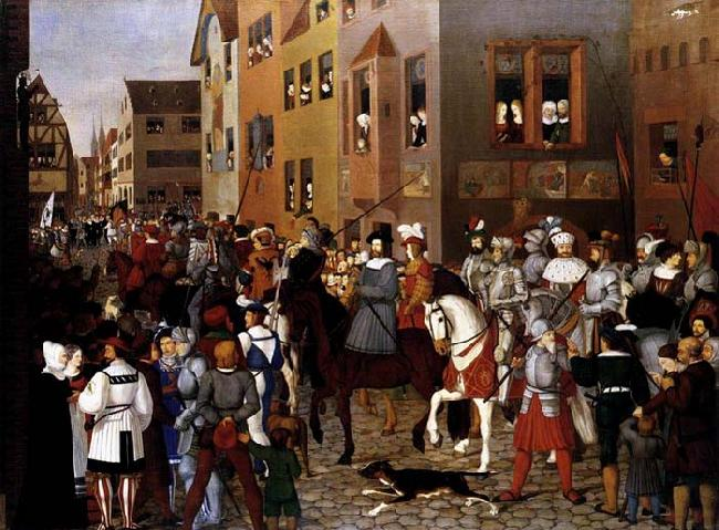 Franz Pforr The Entry of Emperor Rudolf of Habsburg into Basle