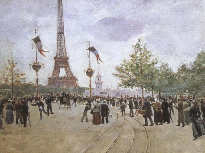 cesar franck entrabce to the exposition universelle by jean beraud