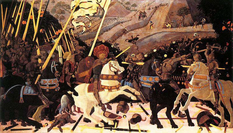 uccello battle of san romano. the Battle of San Romano,
