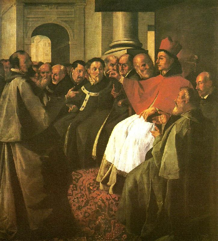 Francisco de Zurbaran buenaventura at the council of lyon