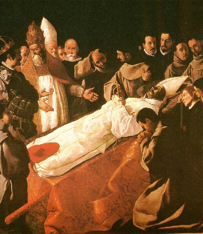 Francisco de Zurbaran death of st. buenaventura
