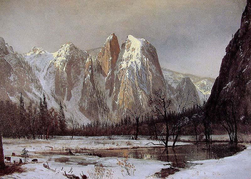 Albert Bierstadt Cathedral Rock, Yosemite Valley, California