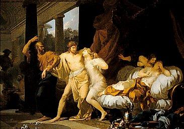 Baron Jean-Baptiste Regnault Regnault Socrates Tears Alcibiades from the Embrace of Sensual Pleasure