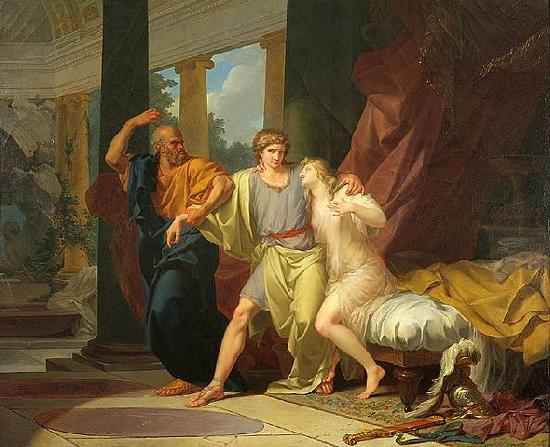 Baron Jean-Baptiste Regnault Socrates Tears Alcibiades from the Embrace of Sensual Pleasure