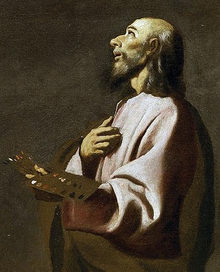 Francisco de Zurbaran Detail from Saint Luke as a Painter before Christ on the Cross. Widely believed to be a self-portrait