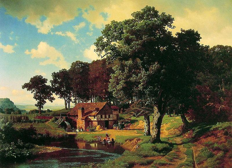 Albert Bierstadt A Rustic Mill (Farm