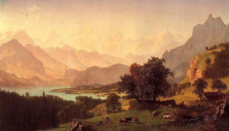 Albert Bierstadt Bernese Alps, oil on canvas