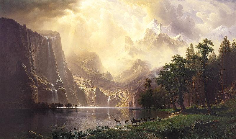 Albert Bierstadt Among the Sierra Nevada Mountains, California