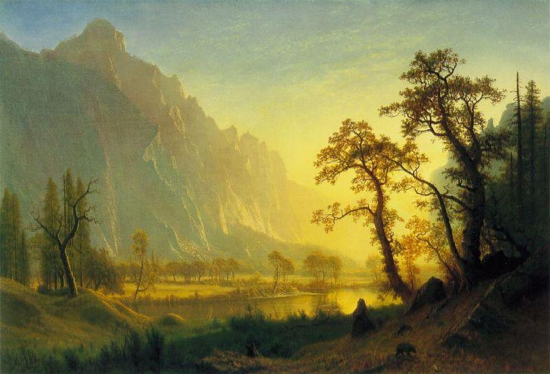 Albert Bierstadt Sunrise, Yosemite Valley
