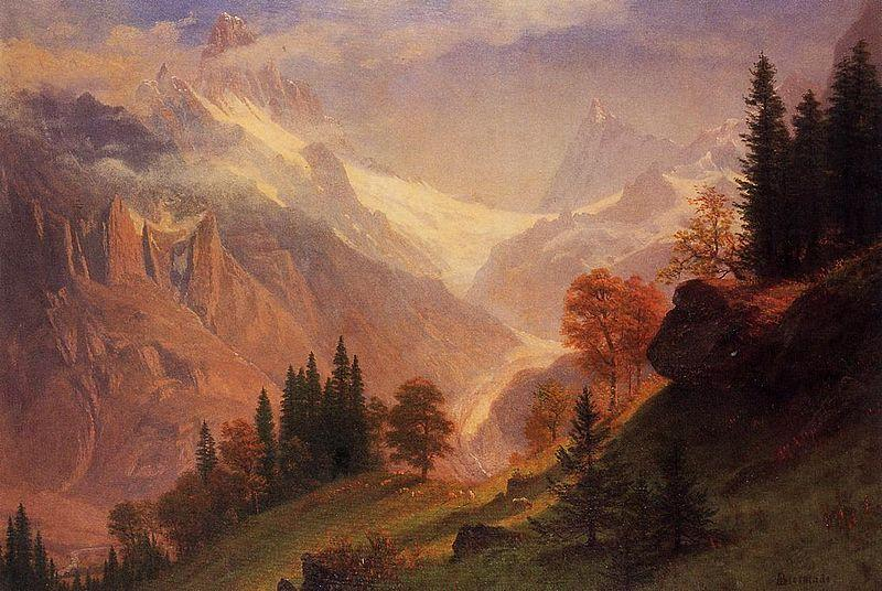 Albert Bierstadt View of the Grindelwald
