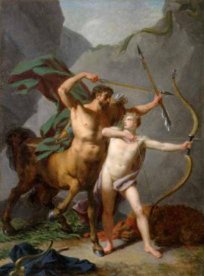 Baron Jean-Baptiste Regnault Achilles educated by Chiron
