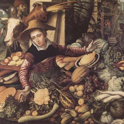 Pieter Aertsen Market Woman with Vegetable Stall (mk14)
